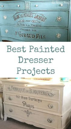 14 of the Best Painted Dresser Projects! All of these pretty crafts and projects were created using Vintage Graphics from my site. Some were created by me, some by my contributors and some were submitted by readers!
