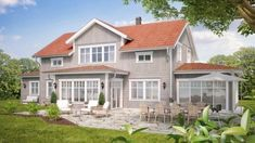 Metal Roof Houses, House Roof, Facade House, Paint Colors For Home, House Colors, Exterior Colors, Exterior Design, Bungalow, Red Roof