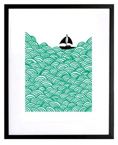 screen print seascape # Pin++ for Pinterest #