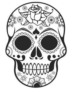 Coloring Pages. Free Printable Sugar Skull Coloring Page Sugar Skull Coloring…