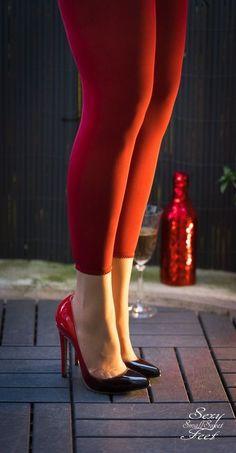 ⛥ #redstilettoheels #hothighheelsstockings #Stilettoheels