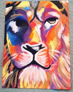 king of the jungle painted canvas! grrrrr!