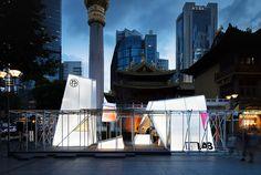 lukstudio assembles urban prisms on a shanghai plaza