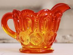 Vintage Amberina Creamer & Sugar Dish by Smith Glass Co. Moon and Stars Pattern. $35.00, via Etsy. My Glass, Amber Glass, Glass Art, Vaseline Glass, Glass Company, Amber Color, Star Patterns, Antique Glass, Vintage Glassware