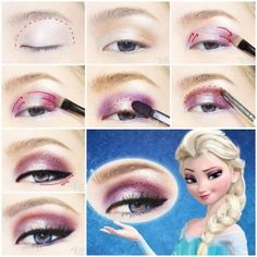 DIY Disney's Frozen Elsa Eyeshadow. If only I were blonde.....