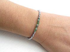 Emerald Bracelet, Amethyst Bracelet, Silver Bracelets, Beaded Bracelets, Gold Anklet, Hematite Bracelet, Tourmaline Necklace, Silver Prices, Photo Jewelry
