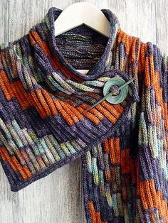 Crochet Scarf Ravelry: Project Gallery for Scarf Bargello pattern by Svetlana Gordon - Knitted Shawls, Crochet Scarves, Crochet Shawl, Knit Crochet, Crochet Cats, Scarf Knit, Crochet Birds, Crochet Food, Crochet Animals
