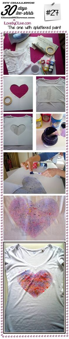 DiY t-shirt WITH SPLATTERED PAINT