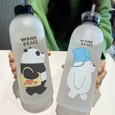 Cute Water Bottles, Drink Bottles, Kreative Desserts, Brown Cups, We Bear, Cute Cups, Bear Wallpaper, We Bare Bears, Aesthetic Food