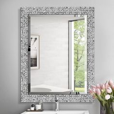 Large Bathroom Mirrors, Bathroom Mirror Makeover, Living Room Mirrors, Large Bathrooms, Redo Bathroom, Large Mirrors, Bathroom Stuff, Downstairs Bathroom, Mirrors