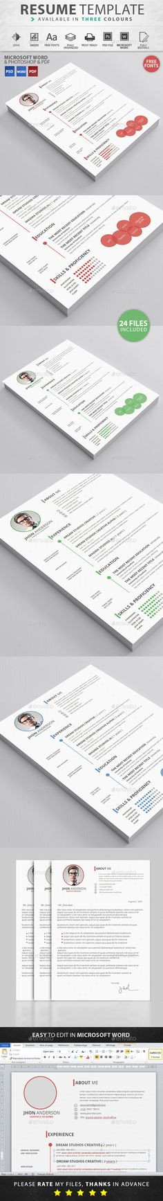 Resume Template #design Download: http://graphicriver.net/item/resume/11650608?ref=ksioks
