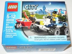 LEGO CITY POLICE OFFICER ATV 60006 KID BUILDING TOY FIGURE 51 PCS PLAYSET 2013 #LEGO