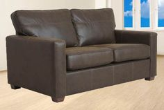 Renoir leather sofa bed - Flame £599