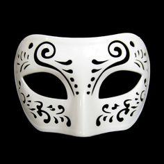 Dream Tale White Venetian Masquerade Mask ~ Mardi Gras Masks $6.88     Prom maybe?