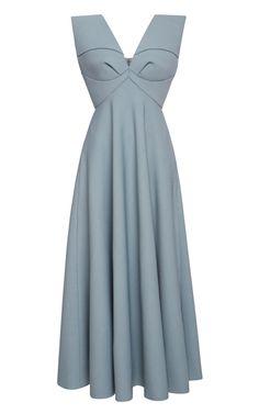 Shop Dress With Half Cape Cut Skirt by Delpozo for Preorder on Moda Operandi