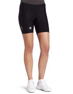 "Canari Pro Gel Cycling Short Womens (Black, Medium). 82% Nylon 18% Spandex. 8 Panel Anatomical Design, Softouch Leg Grippers, Flatseam Stitching, Softouch Leg grippers, 7"" inseam. Anatomical fit to provides compression, GEL pad absorbs road shock for riding comfort. Machine wash, hang dry, no bleach. China."