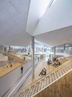 Skovbakke School   CEBRA #AdamMørk #Atrium #CEBRA #Concrete #Denmark #Skovvej #Wood