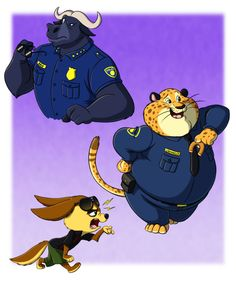 -- Marching Fur the Hype Wagon -- by Pokelai.deviantart.com on @DeviantArt Idris Elba as Chief Bogo! Bloody Yes!!!  And Officer Clawhauser, please make us proud XD  Chief Bogo, Benjamin Clawhauser and Finnick © Disney #zootopia