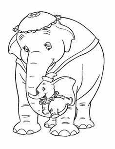 Download Free Printable Elephant Mom And Baby Coloring Pages In Jungle To Color Online