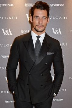 LONDON, ENGLAND - APRIL 01: David Gandy attends a private dinner celebrating the Victoria and Albert Museum's new exhibition 'The Glamour Of Italian Fashion 1945 - 2014' at Victoria and Albert Museum on April 1, 2014 in London, England. (Photo by David M. Benett/Getty Images)