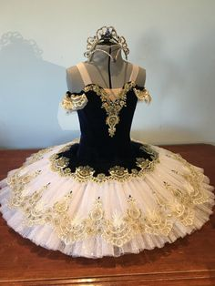 Navy and gold tutu by elegant tutus and designs
