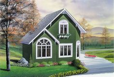 Beach House Plan with 2 Bedrooms and 2.5 Baths - Plan 1196