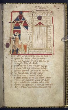 Egerton_ms_3028_f106r BRITISH LIBRARY MANUSCRIPT COLLECTION DIGITISED Attacking a tower with a trebuchet, England, 2nd quarter of the 14th century, Egerton MS 3028, f. 106r -