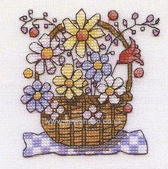 Mini Basket of Flowers