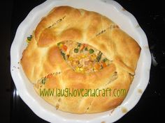 Chicken Pot Pie with Cresent Roll Crust- made last night- VERY GOOD. Added dill weed, garlic powder and a handful of shredded cheddar - perfection!