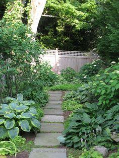 Shade Garden - traditional - landscape - bridgeport - Austin Ganim Landscape Design, LLC