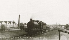 This view shows a locomotive travelling tender first on the 'up' line towards Nottingham. The 'down' line is shown curving away to the right, to pass by the island platform. Young Lad, Steam Railway, Central Station, Steam Locomotive, Derbyshire, Nottingham, Historical Photos, The Past, Island