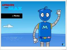 """Juegos Educativos Online Gratis: Aprende con Max: """"Plantas"""" (Portaleducativo.net)"""