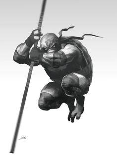 4 ilustraciones de Las Tortugas Ninja por Mustardo-donatello-dotpod.com.ar