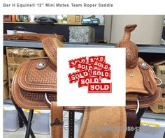 "Bar H Equine® 12"" Mini Motes Team Roper Saddle,"