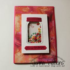 Sweet Thoughts Card made by Jenna Watkins Australia Living, Stampin Up, Card Making, Corner, Crafty, Thoughts, Sweet, Frame, Cards
