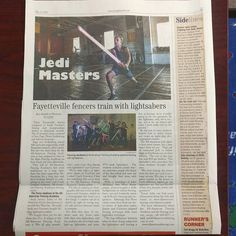 Fencing AND Lightsaber news in the Paraglide paper! #wedareyounottoloveit http://aafa.me/1Tf1P7y