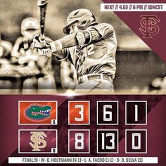 It's always great to beat the Gators at anything!!