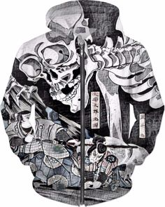 Classical Samurai Demons Custom Fantasy Style Zip Hoodie by Willy Badu. Zip  Hoodie e92df000b