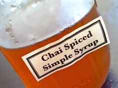 Chai Simple Syrup This needs a few pods of crushed cardamom added for it to be more realistic.
