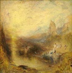 """During Turner's lifetime and ever since, his paintings have been most admired for his virtuoso renditions of natural appearances, especially dramatic light effects. 