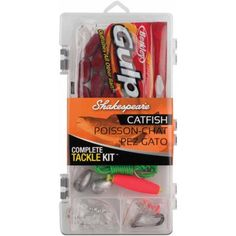 Catfish Tacklebox KitManufacture ID: a Shakespeare Catch More Fish tackle box kit anglers will have the basic tackle needed to land that big cat all Catfish Tackle, Catfish Fishing, Fishing Tips, Fishing Lures, Itchy Mosquito Bites, Fish Tank Coffee Table, Plastic Organizer, Fishing Store, Plecostomus