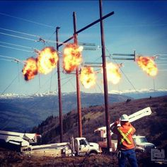 Lineman Electrical Lineman, Electrical Wiring, Electrical Engineering, Lineman Love, Power Lineman, Journeyman Lineman, Electrical Substation, Transmission Tower, Types Of Work