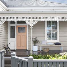 Ideas Front Door Colors Australia For 2019 Exterior Color Schemes, Exterior Paint Colors For House, Paint Colors For Home, Exterior Design, Dulux Exterior Colours, Australia House, Dulux Australia, Dulux Paint Colours Australia, Weatherboard Exterior