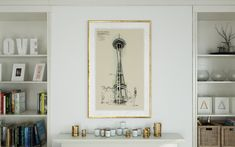 Seattle spaceneedle croquis sketch dessin