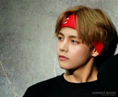 Taehyung in red headband