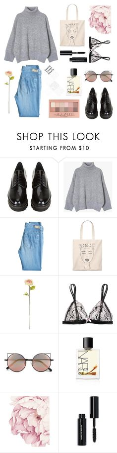 """""""Love"""" by r-bye ❤ liked on Polyvore featuring Stuart Weitzman, AG Adriano Goldschmied, Shabby Chic, L'Agent By Agent Provocateur, Linda Farrow, NARS Cosmetics, Maybelline and Bobbi Brown Cosmetics"""