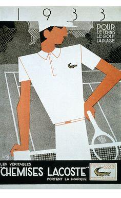 80 aniversario de Lacoste-Vintage Ad #fashion