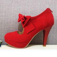 escarpin retro rouge