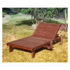 Outdoor Best Redwood Wide Sun Chaise Lounge
