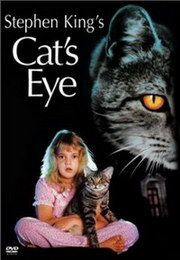 """Stephen King's """"Cat's Eye"""" - A stray cat is the linking element of three tales of suspense and horror. Info and image credit: IMDb."""